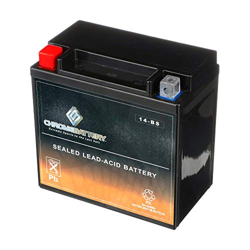 Ytx14-Bs Atv Battery- Rechargeable, Factory Sealed, Replacement For Honda Trx 500 420 450 350 300 Rubicon Foreman Rancher